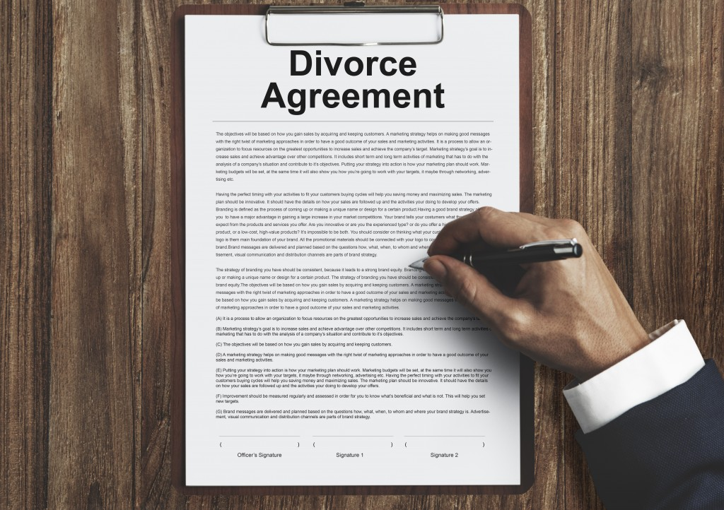 Divorce Agreement and Separation