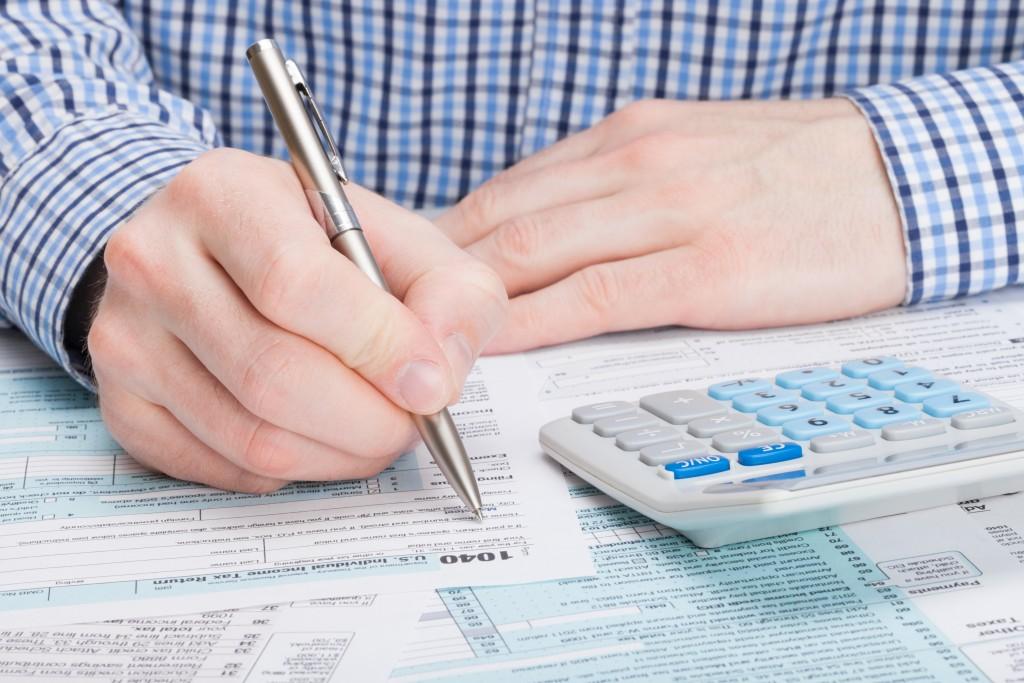 man settling tax
