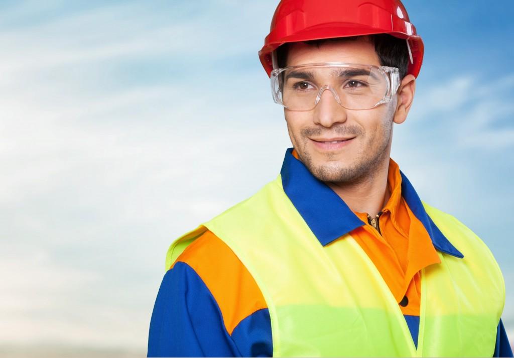 Man wearing safety garment