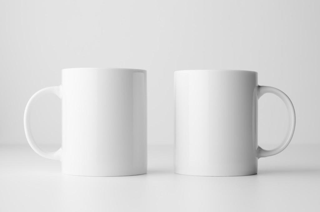 Blank customizable mugs