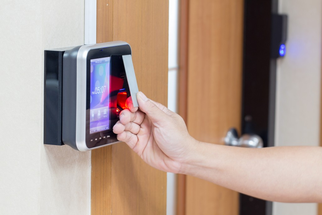 Electronic badge access control system