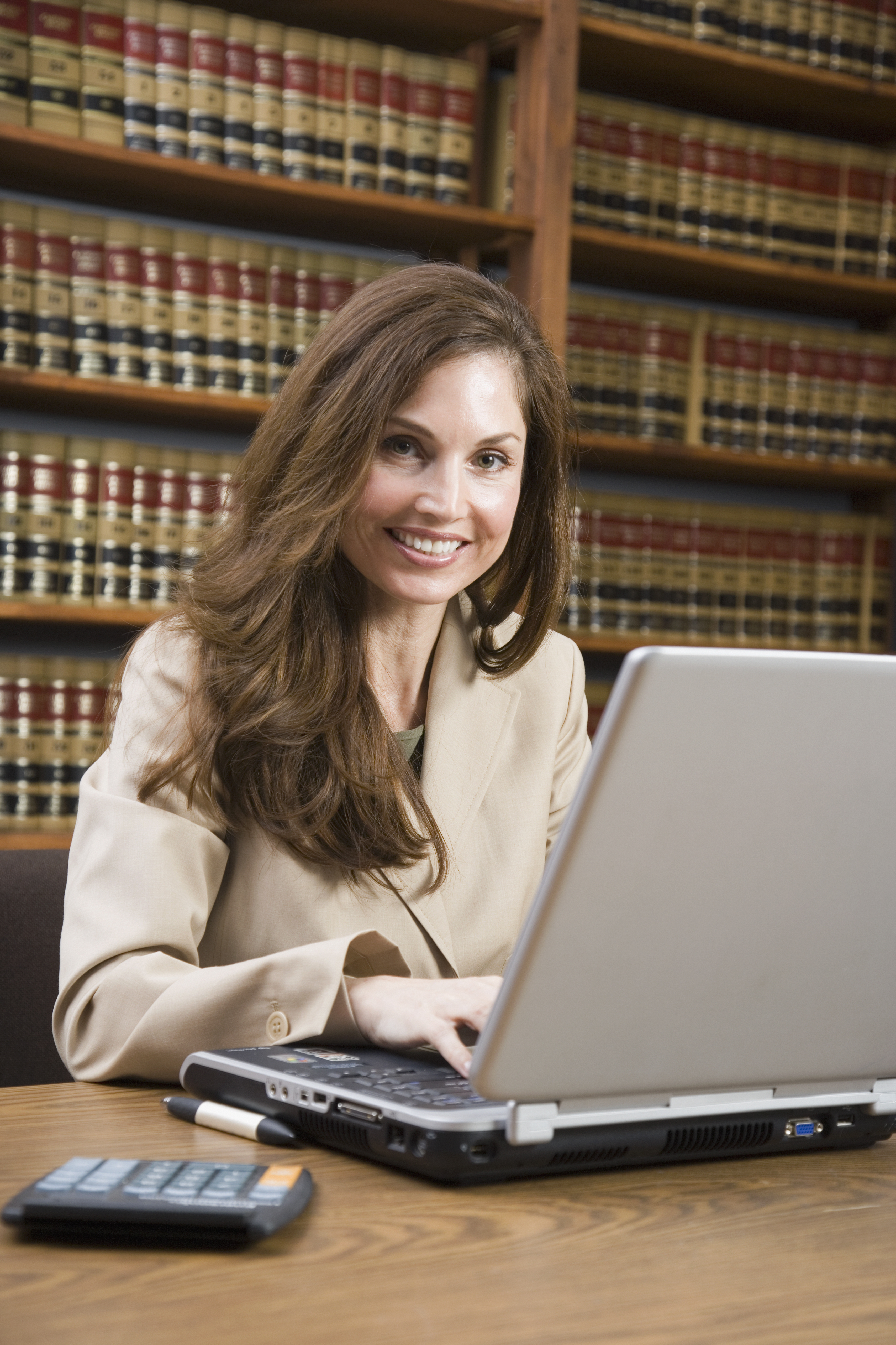 a paralegal working
