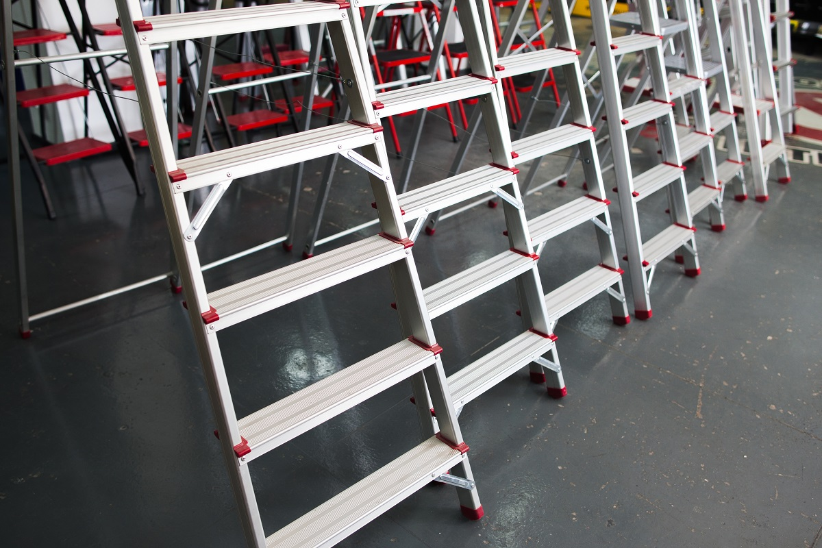 Ladders in a store