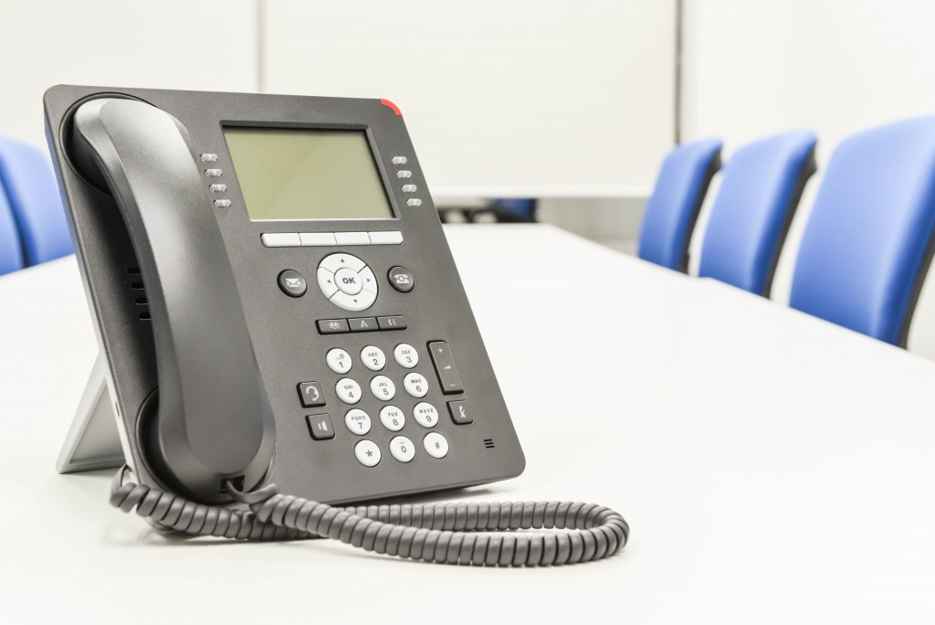 PBX phone in the conference room