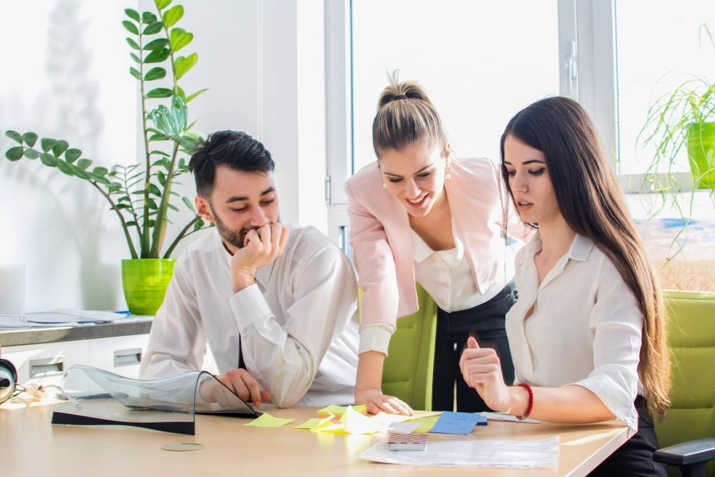 team having a meeting