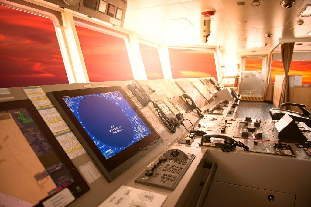 monitors inside a ship