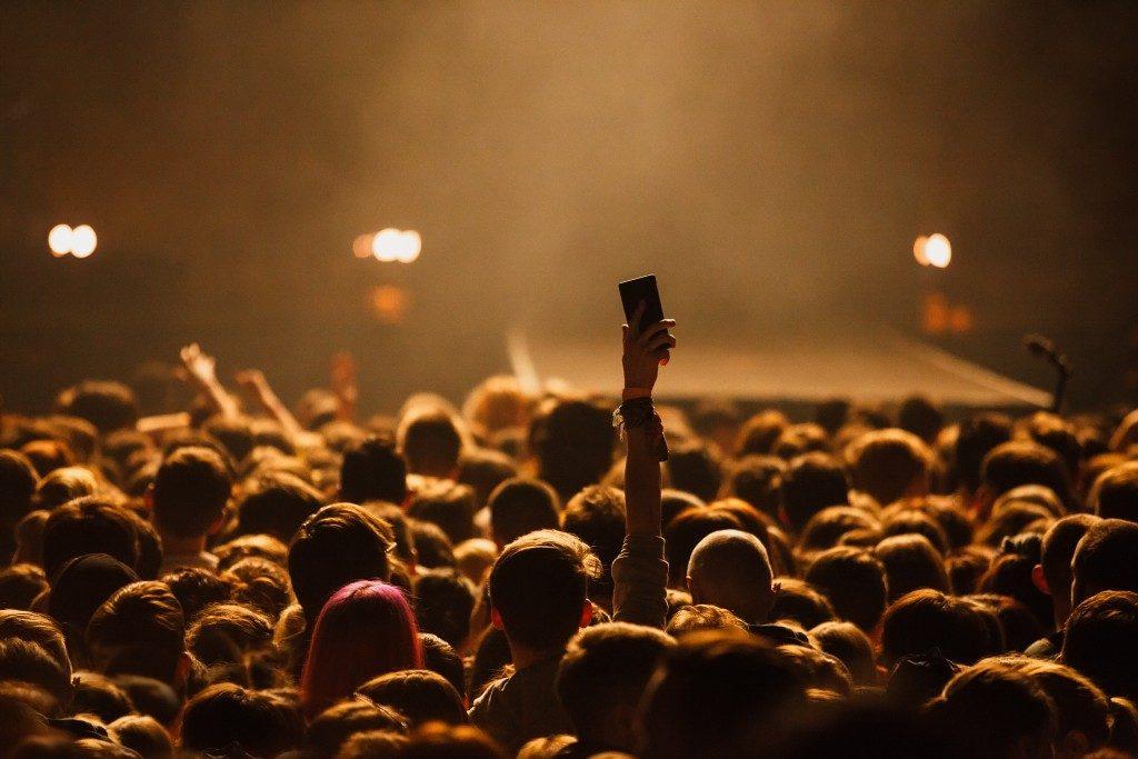Attending a concert