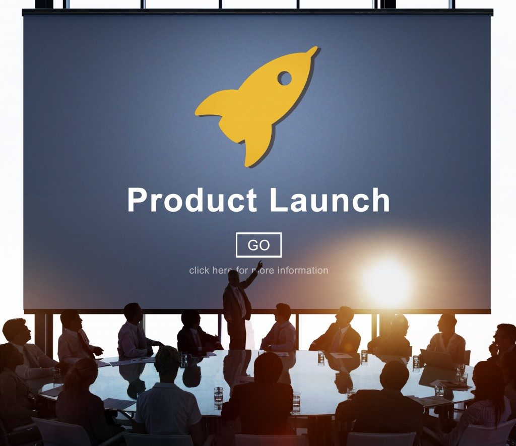 New Product Launch Marketing Commercial Innovation Concept