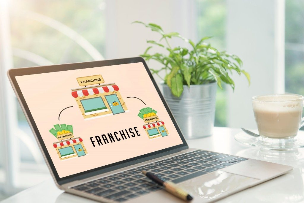 franchise shown on laptop screen