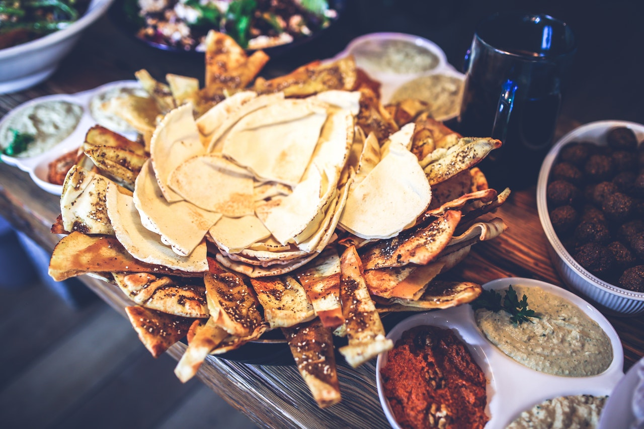 plate full of nachos