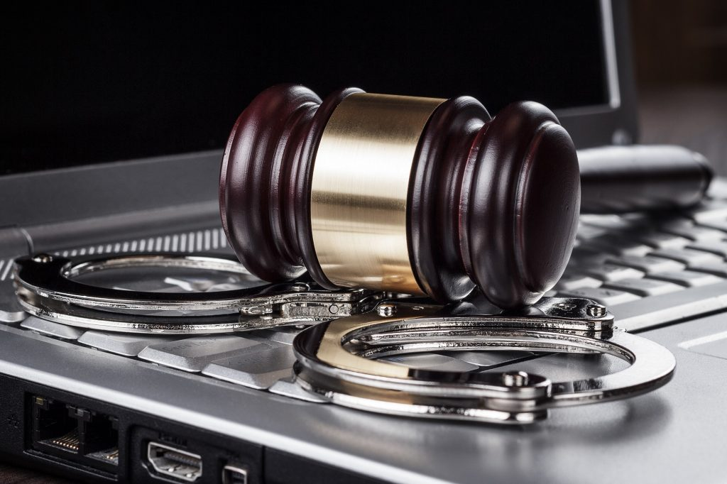 lawsuit pertaining to gavel and handcuff