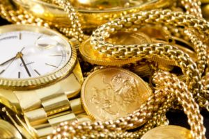 gold watches and necklaces