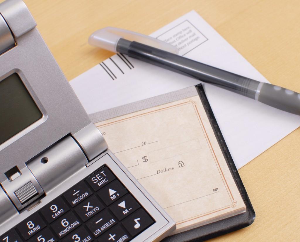 checkbook for finances