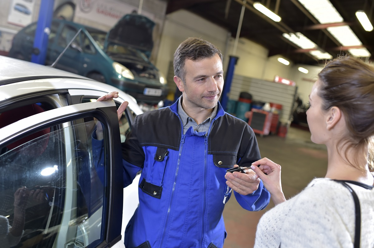 client and auto shop staff