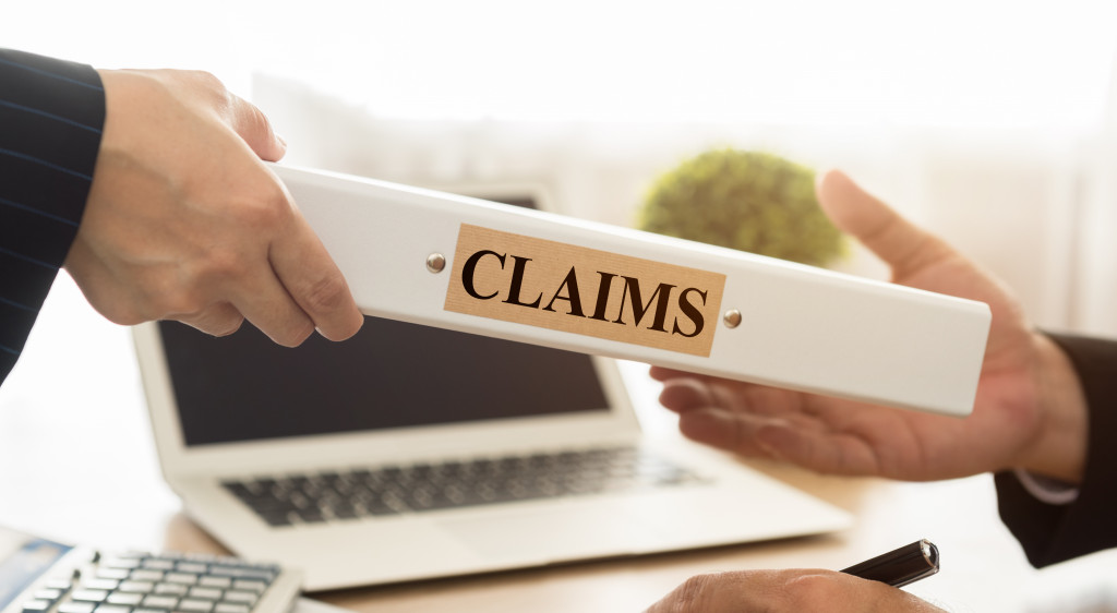 man receiving claims